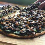Spirulina Pesto Mushroom Flatbread (V/GF)